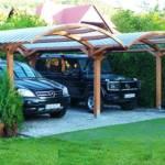 Деревянные навесы для автомобилей