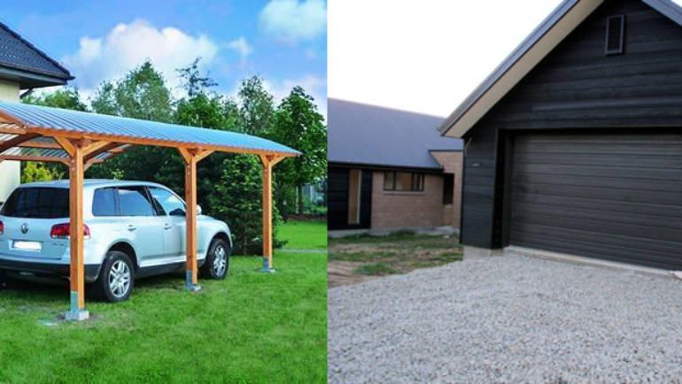 Что лучше: гараж или навес