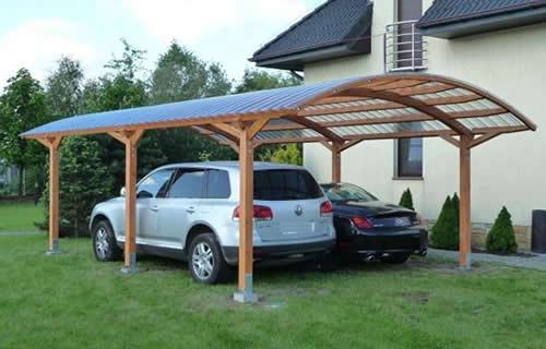 Деревянный навес лучше гаража